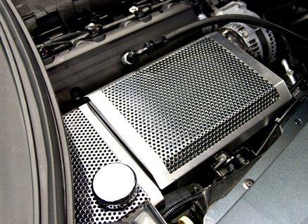 c7 corvette painted stainless fuse box cover southerncarparts com C7 Corvette Logo