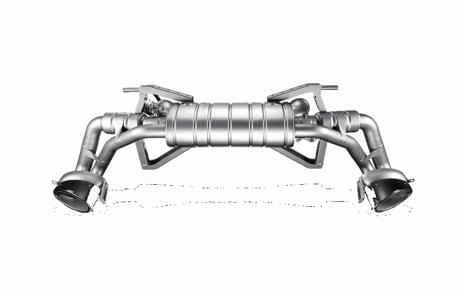 2009 2012 Audi R8 52l V10 Akrapovic Titanium Slip On Exhaust S