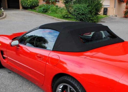 C5 1997 2004 Corvette Convertible Top In Black Original Twillfast Southerncarparts