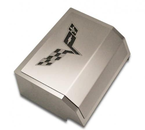 c6 corvette stainless steel fuse box cover with c6 cross. Black Bedroom Furniture Sets. Home Design Ideas