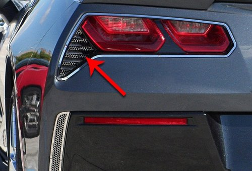 2014-2019 C7 Corvette Rear Taillights Matrix Series Grilles
