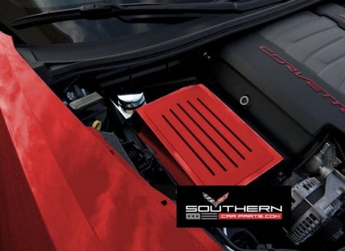 2014-2019 C7 Corvette Custom Painted Steel Fuse Box Cover w/Ribbed Finish