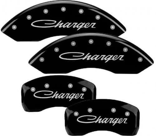 2011-2013 Dodge CHARGER In Cursive (3.6L,V6) Black Caliper