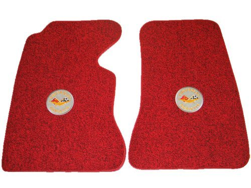 1956 C1 Corvette Floor Mats with Embroidered Logos