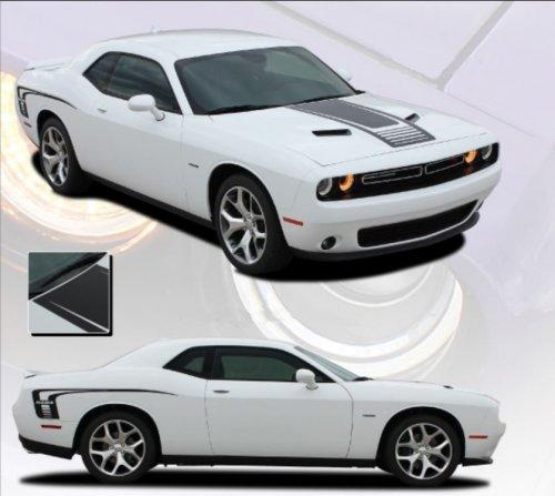 2008-2019 Challenger Cuda Strobe Hood and Side Stripe Kit EE3740