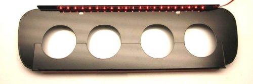 C7 Corvette Powder Coated Illuminated Exhaust Filler Panel for Non NPP 052054
