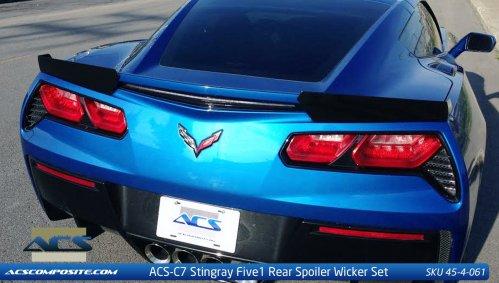 2014-2019 C7 Corvette ACS Five1 Z51 Wicker Spoiler Conversion Kit