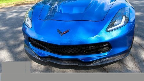 C7 Corvette Carbon Fiber Front Splitter With Deflectors