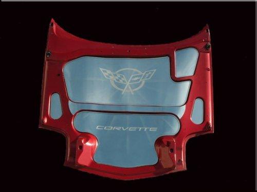 C5 Corvette Crossed Flags Hood Panels