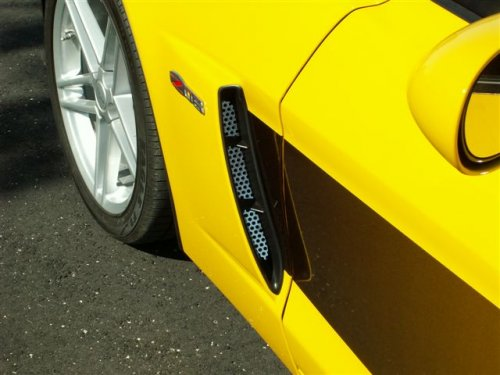 C6 Corvette Z06 2-pc Perforated Stainless Vents