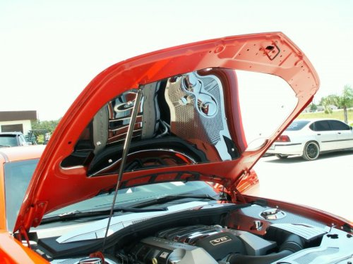 2010-2015 Camaro Polished Stainless 3 pc Hood Panel Set
