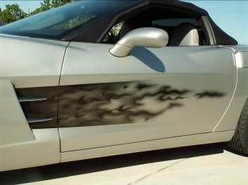 C6 Corvette Custom Airbrushed Vehicle Side Graphic