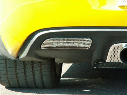 2005-2013 C6 Corvette 2-pc Stainless Back Up Light Covers
