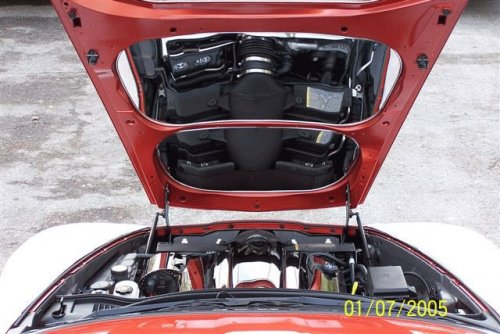 2005-2013 C6 Corvette 2-pc Stainless Hood Panels