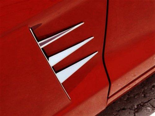 2005-2013 C6 Corvette 6-pc Stainless Vent Spears