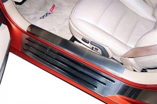 2005-2013 C6 Corvette Brushed Stainless Inner Doorsills
