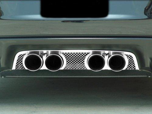 2006-2013 C6 Corvette Laser Diamond Mesh Exhaust Port Filler Panel