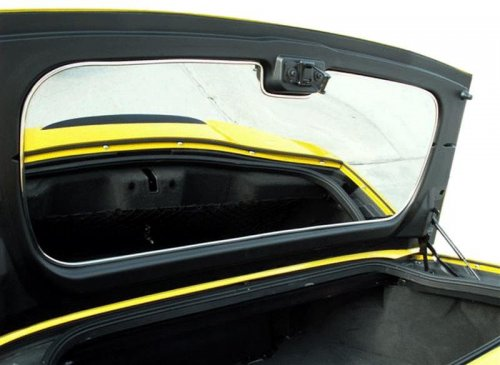 C6 Corvette Polished Stainless Convertible Trunk Lid Panel