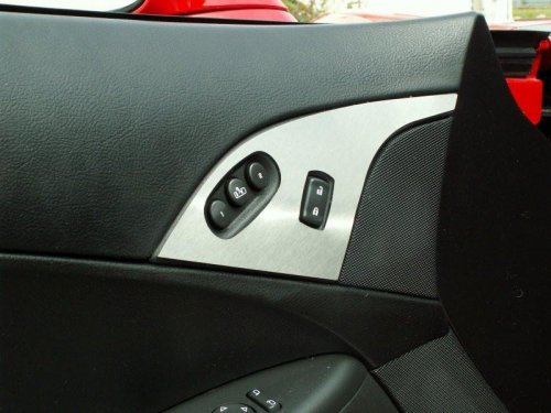 C6 Corvette Stainless Door Lock Trim Plate With Option Buttons