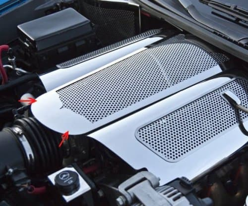 C6 2005-2007 Corvette Polished Stainless Perforated Extended Plenum Cover