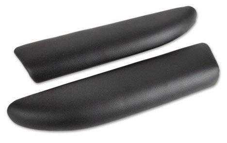C6 Corvette Leather Armrest Pads Ebony