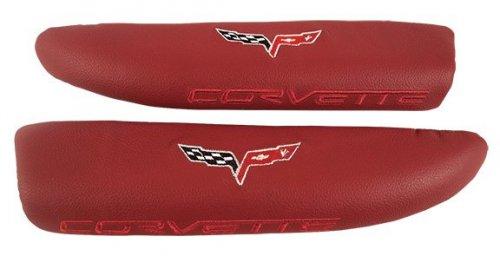 C6 Corvette Cobalt Red Leather Armrest Pads