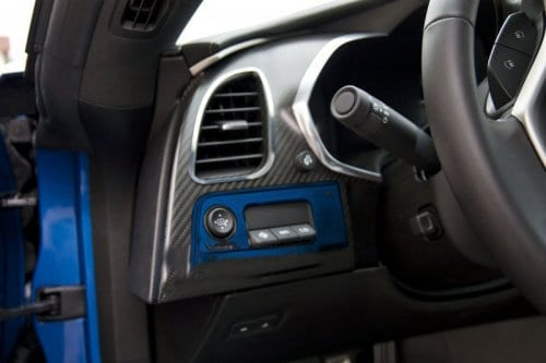 C7 Corvette Custom Painted Mirror/HUD Control Trim Plate