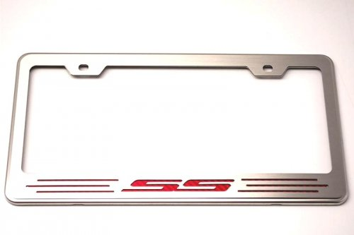 Camaro SS Rear License Plate Frame With SS Lettering in Carbon Fiber