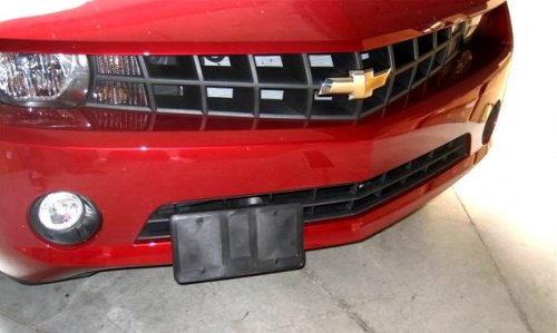 Fit Chevy Camaro Matt Black License Plate Frame with Cap