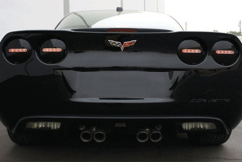 C6 Corvette Midnight Onyx L.E.D Tail Lights