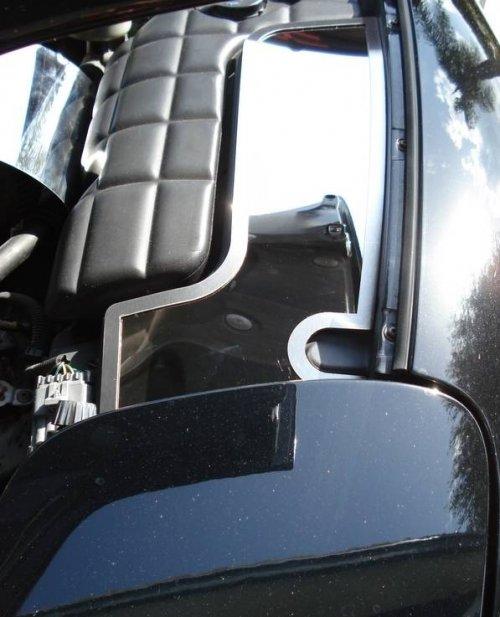 C5 1997-2004 Corvette 2-pc Stainless Inner Fender Covers