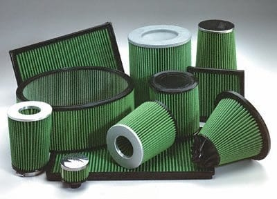 C6 Corvette Green Replacement Air Filter