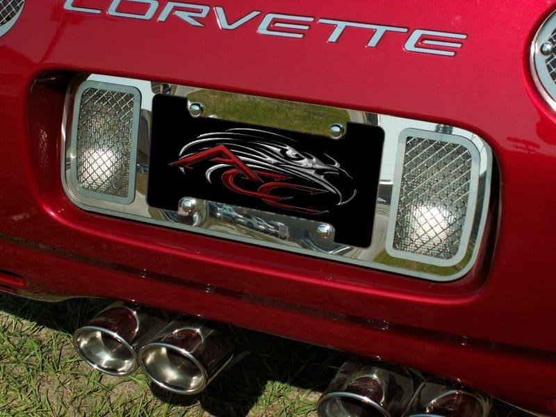 C5 Corvette Laser Mesh Rear License Plate Frame Tag ...
