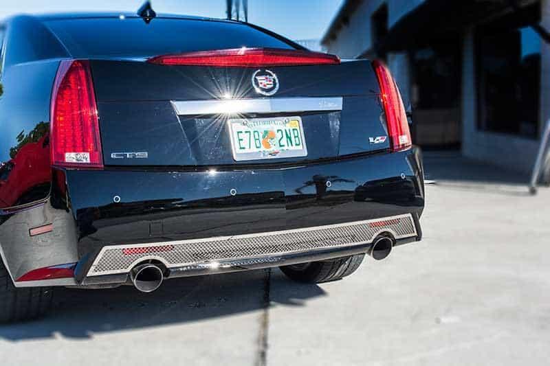"123025-RED  2006-2015 Cadillac CTS-V Carbon Fiber /""SUPERCHARGED/"" Strut Bar Trim"