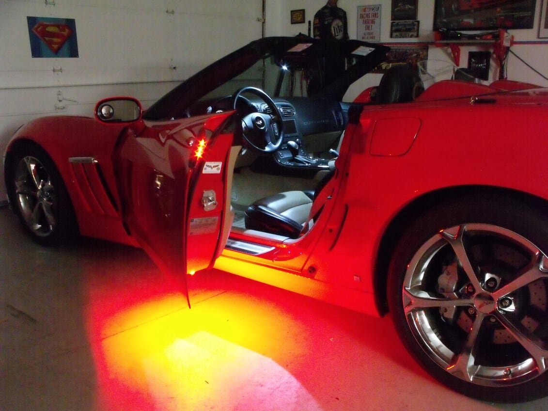 C6 Corvette Led Puddle Lights And Door Handle