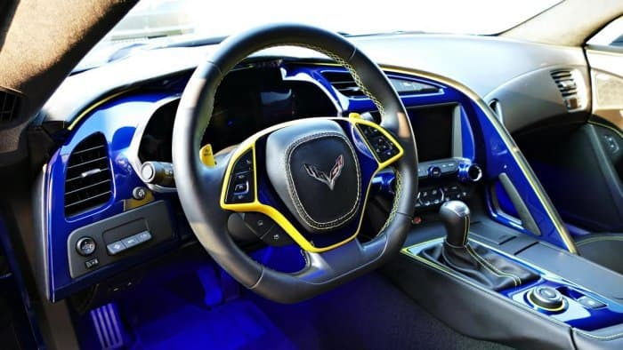 C7 Corvette Painted Steering Wheel Bezel ...