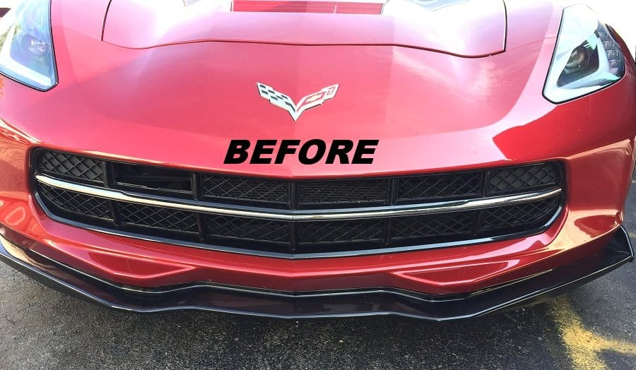... 2014 2018 C7 Corvette Molded Plastic Grille Blackout Package ...