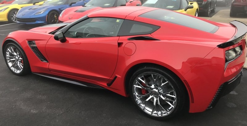 C7 Corvette Z06 Style Painted Side Skirts