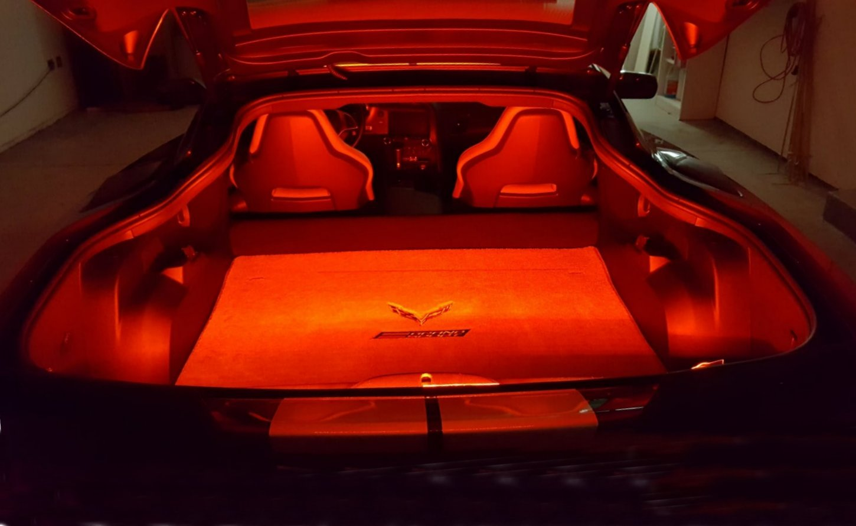 C7 Corvette Led Trunk Compartment Hatch Strips Lighting Southerncarparts Com