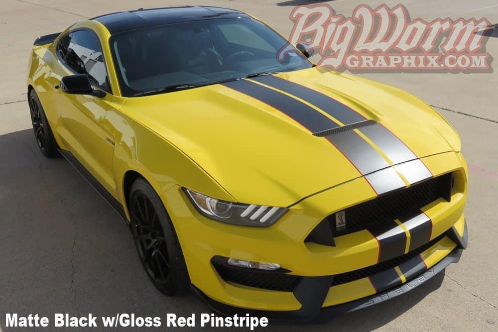 2017 Mustang Gt 350 Twin Full Length Stripes Kit