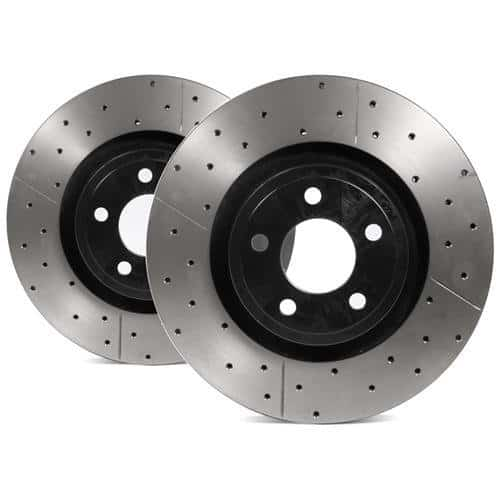 Mustang Dbablkx Street Series Rotor Cross Drilled Slotted Uni Directional