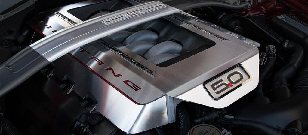 mustang gt illuminated engine shroud cover southerncarpartscom
