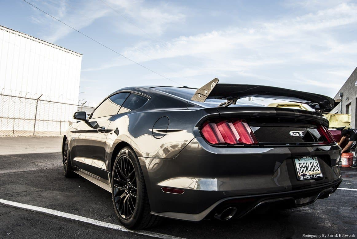 APR Mustang Rear Wing Made From Carbon Fiber