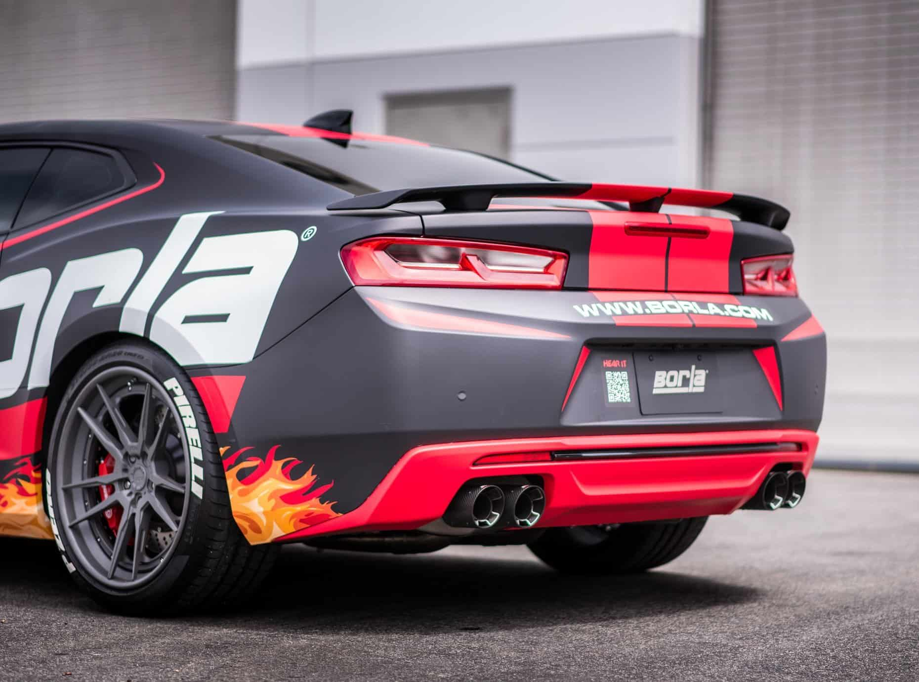 2016 2017 Camaro Ss Borla Cat Back Exhaust Atak With Carbon Fiber Tips 140688cf