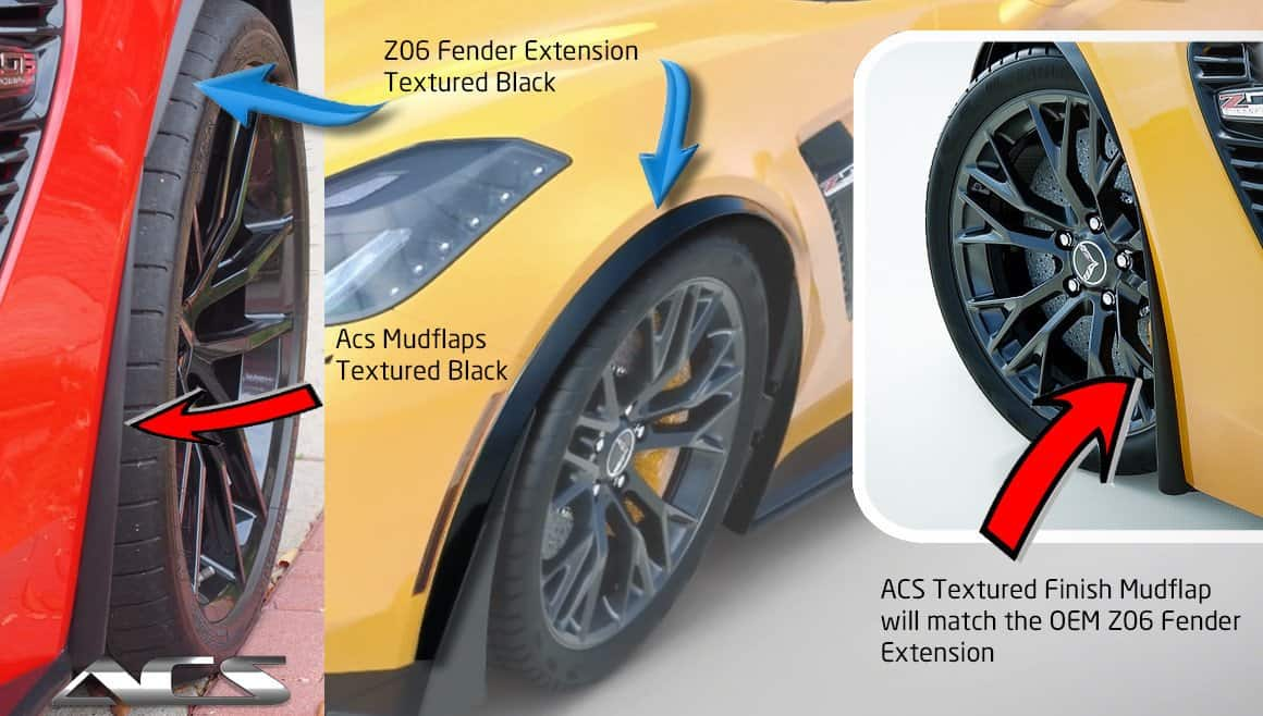 C7 Corvette Front Wheel Splash Guard Set