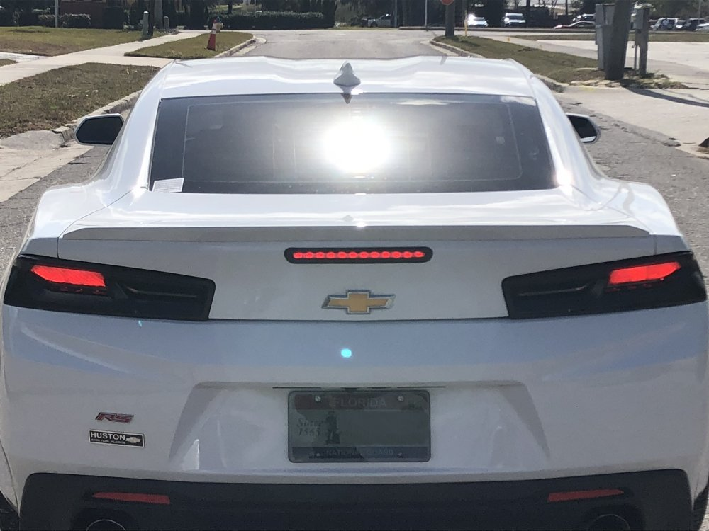 ... 2016 2018 Camaro Molded Taillight Blackout Lens Package With Lights On  ...