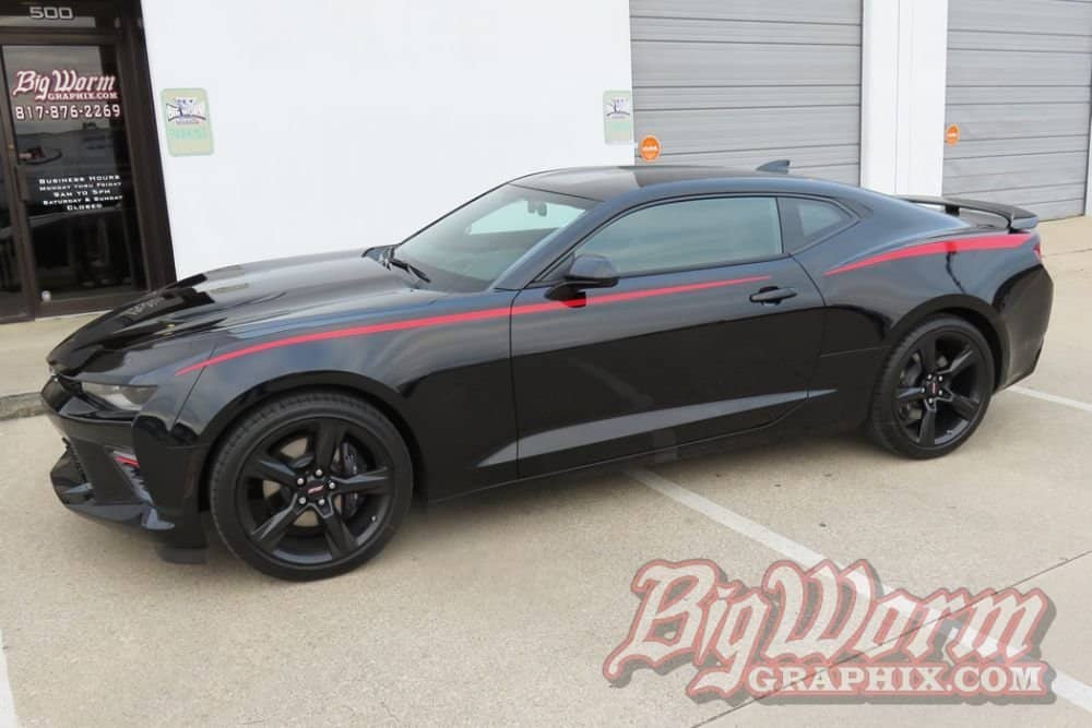 2016 2018 Camaro Skinny Side Spears Stripe Kit