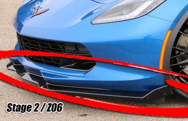2015-2018 C7 Corvette Z06/Grand Sport Stage 2 / 3 ProTEKt Custom Fit Front  Bumper Skid Plates (Small Winglets)