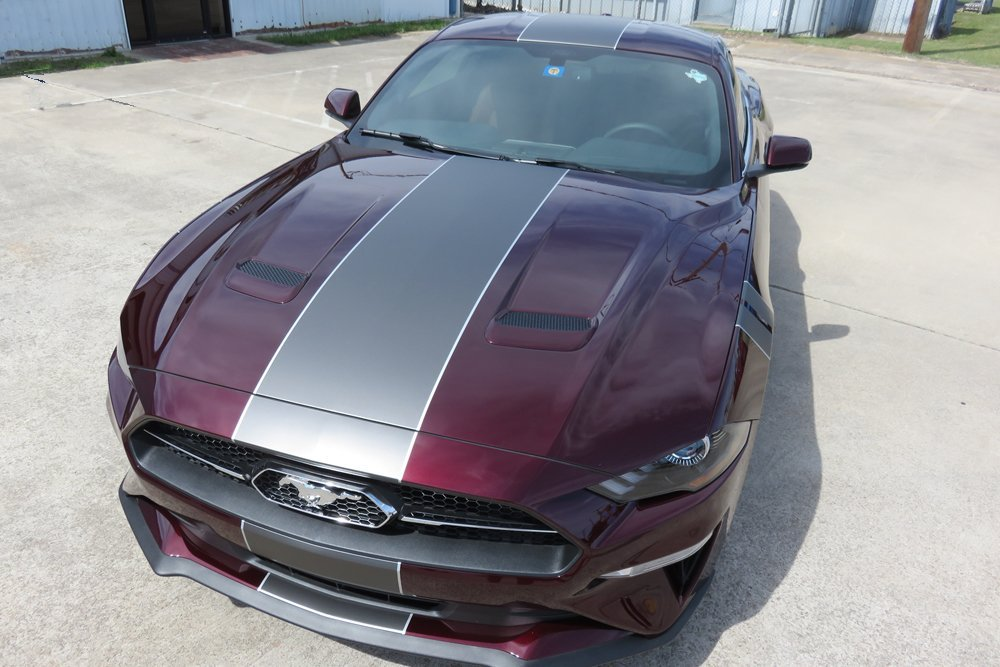 2016 Mustang Colors >> 2018-2019 Mustang Center Full Length Stripe Package - SouthernCarParts.com