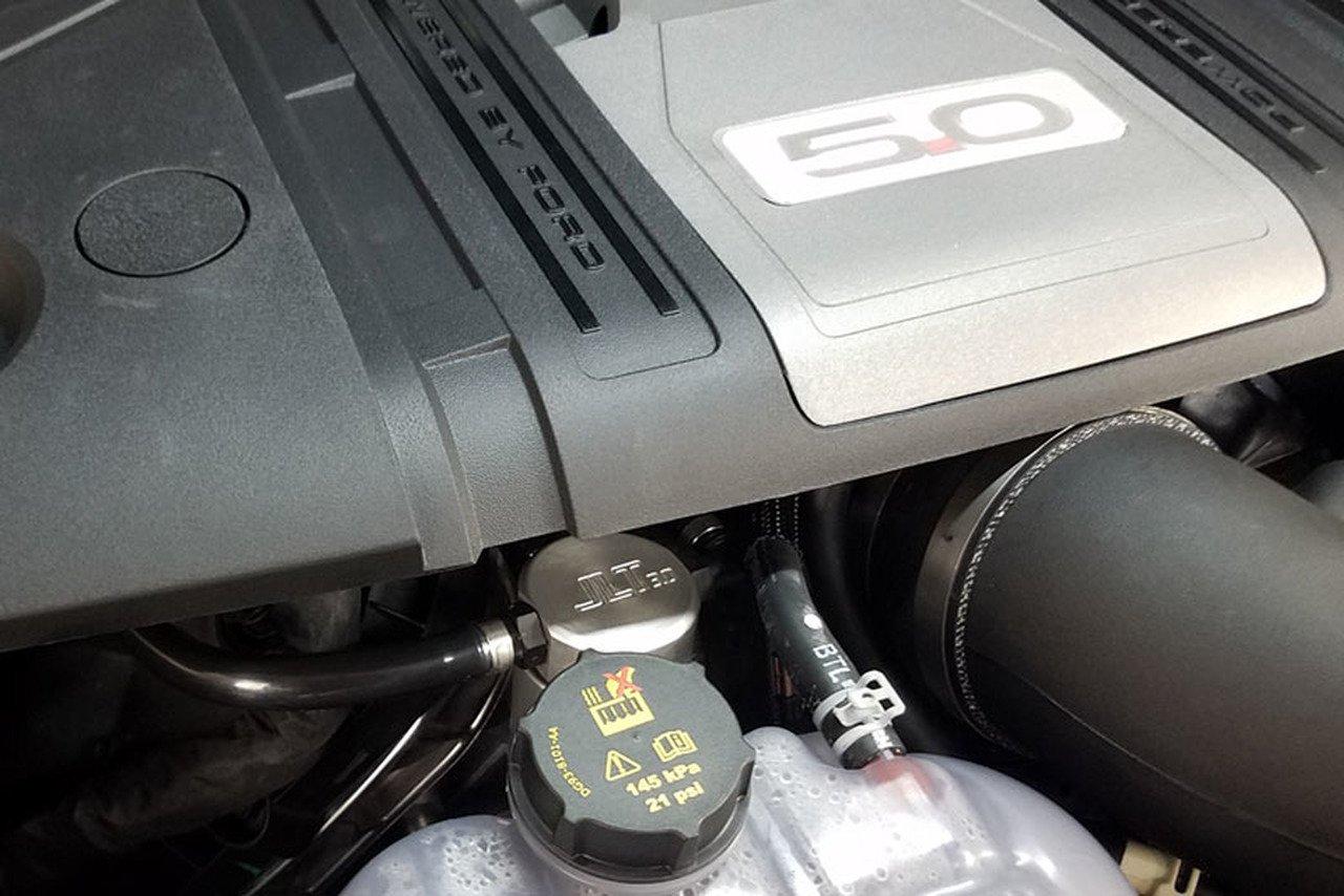 JLT Oil Separator Satin 3.0 Passenger Side for 2018 2019 Mustang GT 5.0